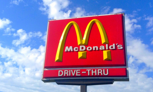 "PHOTO: A new public awareness campaign from the U.S. Public Interest Research Group is asking the famous ""Golden Arches"" of McDonald's to stop using meat raised with antibiotics. Photo credit: Mike Mozart/Flickr."