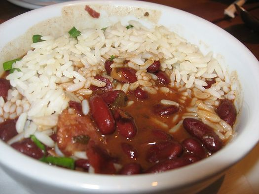 "Arkansas legislators are being served a lunch of red beans and rice for ""Hunger Day"" at the Capitol. Hunger relief agency workers will also be on hand to discuss the state's consistently high food insecurity rates. Credit: Arnold Gatilao/Wikimedia Commons"