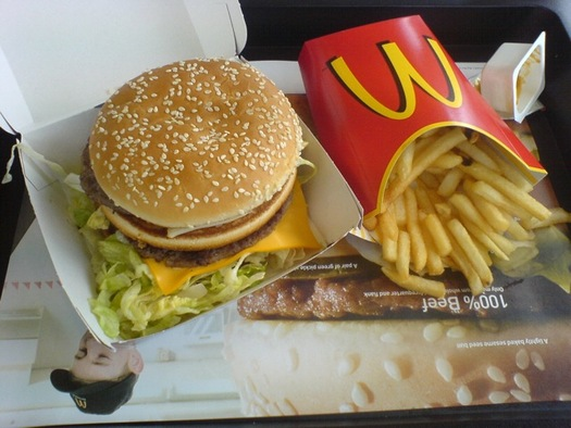 PHOTO: The U.S. Public Interest Research Group is calling on McDonald's to stop purchasing meat from animals raised using antibiotics. The fast food giant says it is updating its purchasing policies this year. Photo credit: Simon Miller/Flickr.