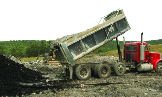 PHOTO: Solid fracking waste is piling up by hundreds of thousands of tons at seven New York landfills, according to a report by Environmental Advocates of New York. They are calling for emergency action. Credit: U.S. Geological Survey.