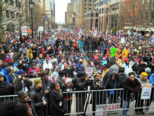 PHOTO: Thousands are expected in Raleigh on Saturday for daylong Moral March events, including the annual Historic Thousands on Jones Street (HKonJ) People's Assembly March to the North Carolina Legislature. Photo courtesy: HKonJ.com