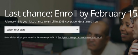 PHOTO: Michiganders needing to obtain or renew health insurance for plans offered under the Affordable Care Act must do so by this Sunday or risk paying a penalty. Image courtesy of www.healthcare.gov.