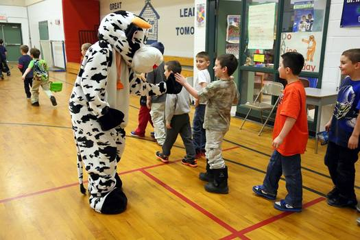 PHOTO: Outreach efforts, such as this one at Dr. Norman W. Crisp Elementary School in Nashua, helped New Hampshire enroll nearly 1,000 more kids in school breakfast programs last year. Courtesy: NH Kids Count