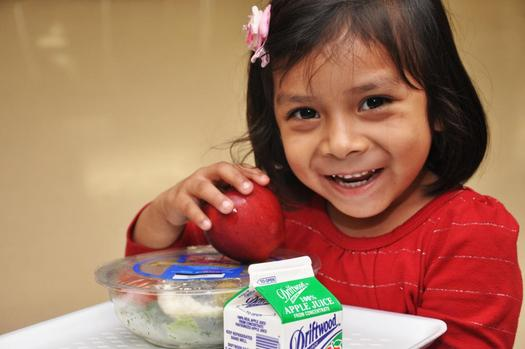 PHOTO: Maine moved up in the latest Food Research and Action Center report to 15th in the nation for the number of low-income children getting both breakfast and lunch at school. Credit: LetsMove.gov.