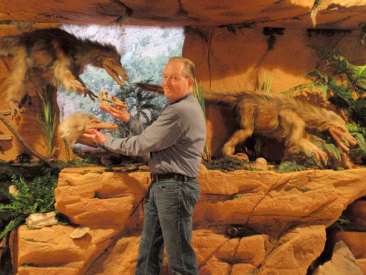 PHOTO: Former police officer Tom Hendershot reimagined his life and is now the owner of Antiquities Company, a Grand Rapids-area business specializing in natural history exhibits. Photo courtesy of T. Hendershot.
