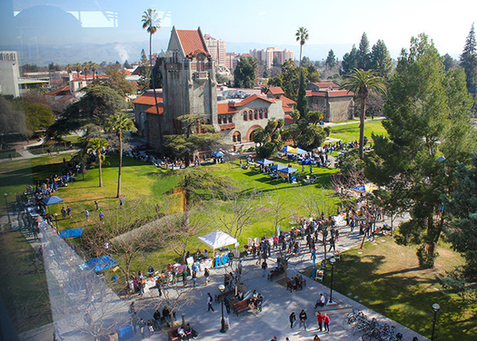 PHOTO: Faculty and students will protest on college campuses today for National Adjunct Walkout Day. A San Jose State University professor created the event as a way to bring attention to the growing number of part-time college-level instructors. Photo courtesy of San Jose State University.