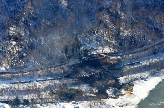 PHOTO: Some Washingtonians say oil-train disasters such as the one in West Virginia this month, in which 27 of 109 rail cars full of Bakken crude oil derailed, can only be avoided if the trains aren't allowed in the Northwest. Photo courtesy Office of West Virginia Gov. Earl Ray Tomblin.
