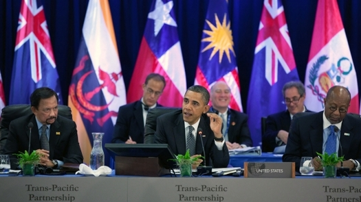 PHOTO: Critics of the Trans-Pacific Partnership say the proposed trade pact is being negotiated in secret. Some say the pact has a broad ranging impact on international trade, and that fast-tracking the agreement is a bad idea. Photo credit whitehouse.gov