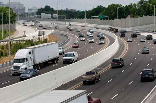 PHOTO: The federal government is reviewing ways to maintain revenue for infrastructure improvements on freeways like I-40, which runs across the length of Tennessee from the Mississippi River to the Smoky Mountains. Photo courtesy: Tennessee Department of Transportation.