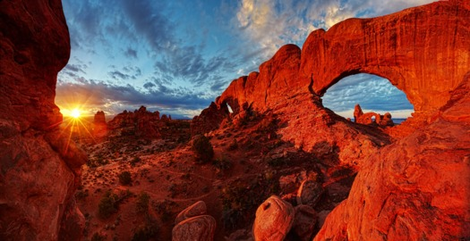PHOTO: A new report finds that Arches National Park and other public lands are providing a huge economic boost for Moab and the surrounding area. Photo courtesy USA.gov.