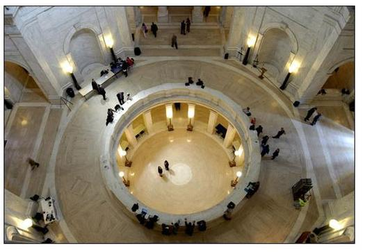 PHOTO: The state Legislature looks likely to restore threatened funding for children and family support programs, and maybe this time putting it in a more stable part of the budget. Photo of the state Capitol rotunda courtesy of the West Virginia Legislature.