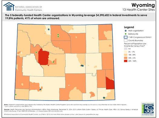 A new report that details the benefits and 50-year history of Community Health Centers notes that they are key to getting affordable health care to folks in Wyoming. A big chunk of the federal funding that keeps the clinics open is set to expire in October, unless Congress acts. Credit: Wyoming Primary Care Association.