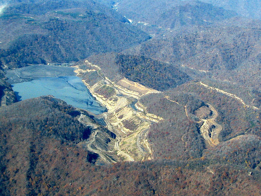 PHOTO: The state of West Virginia says it now will consider the findings of numerous studies that have linked mountaintop-removal mining to a large number of serious health problems. Photo credit: SouthWings/Vivian Stockman.
