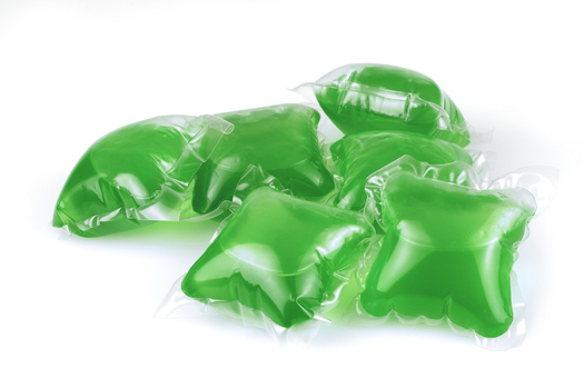 PHOTO: Among the newer concerns this National Poison Prevention Week are concentrated laundry pods, which often have bright colors and can be mistaken by young children as candy. In addition to the ingestion risk, they can lead to eye injuries from squirting out when bitten into. Photo credit: U.S. Consumer Product Safety Commission/Flickr.