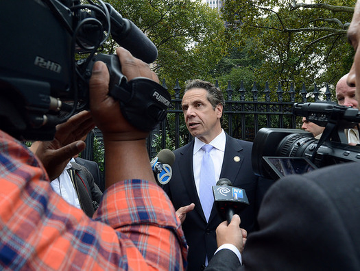 PHOTO: Governor Andrew Cuomo is getting a bad grade on education in his second term. A new Quinnipiac University Poll shows 63 percent of New York voters disapprove of the way Cuomo is handling state schools, with 28 percent approving. Photo credit: MTA/CC