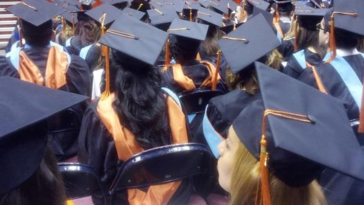Photo: Female graduates may have a more difficult time finding a job post graduation. Photo credit: kconnors/morguefile.com
