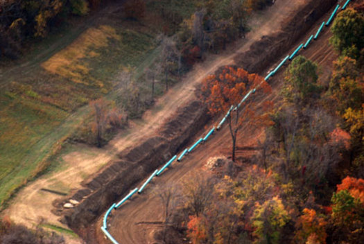 PHOTO: A local court decision could slow the huge pipelines aiming to bring Marcellus gas to eastern markets. Photo by www.marcellus-shale.us