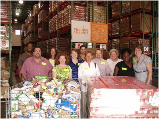 PHOTO: A new report from the Food Research and Action Center finds that one-in-six American households said there were times they couldn't afford to buy food in 2014, many relied on community food banks such as the one above. Photo courtesy of the U.S. Department of Agriculture.