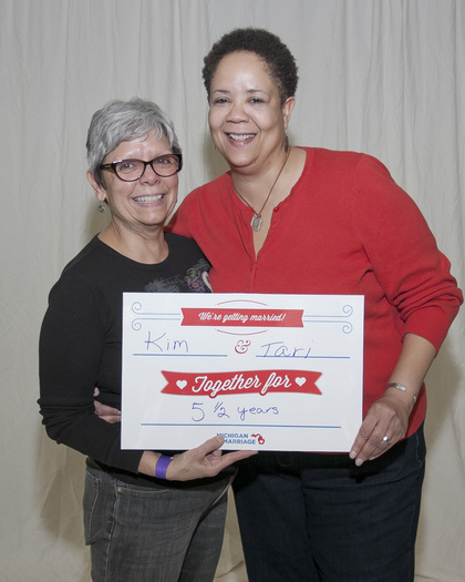 PHOTO: Tari Muniz and her partner Kim hope to finally be able to make their marriage a reality, if the U.S. Supreme Court rules that states have an obligation to perform same-sex marriages. Photo courtesy of T. Muniz.