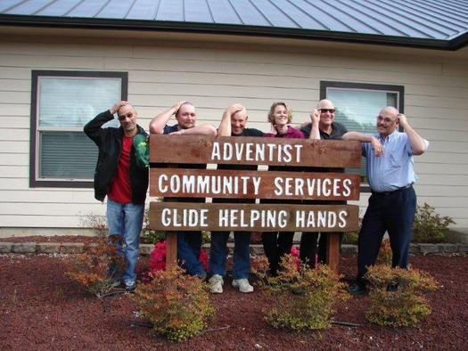 PHOTO: To encourage food donations, organizers of the Stamp Out Hunger drive in Glide, Ore., even promised to shave their heads in 2010. And it worked! The town collected 8,000 pounds of canned goods for the local food pantry. Photo courtesy of UCAN.