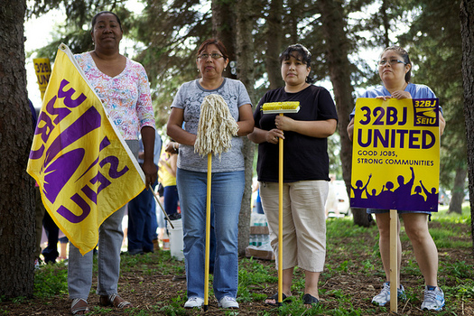 "Janitors and other members of 32BJ SEIU in Connecticut will take part in ""Fight for 15"" actions on Wednesday in Danbury, Hartford, New London and Stamford. Courtesy: 32BJ SEIU."
