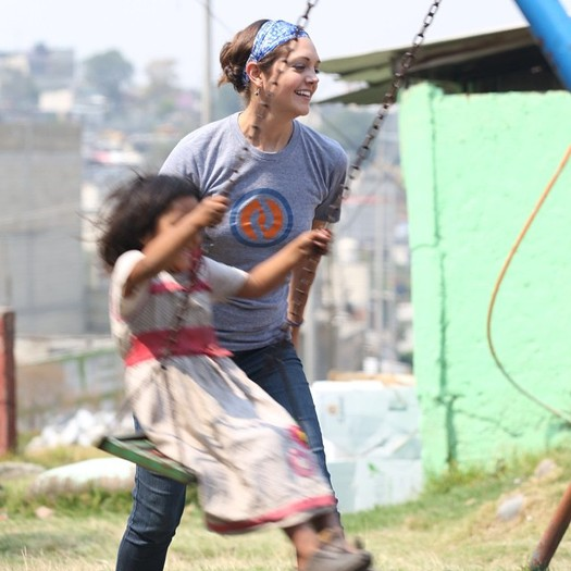 PHOTO: Mallory Brown, shown here on a recent service trip to Mexico, is now headed to Nepal to work with different agencies on earthquake relief. Photo courtesy of Mallory Brown.