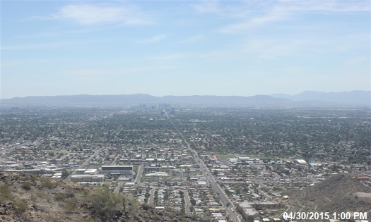 PHOTO: Climate change is among the factors contributing to severe air pollution that has earned four Arizona counties failing grades in an annual American Lung Association report tracking the nation's most polluted cities and counties. Photo credit: Arizona Department of Environmental Quality.