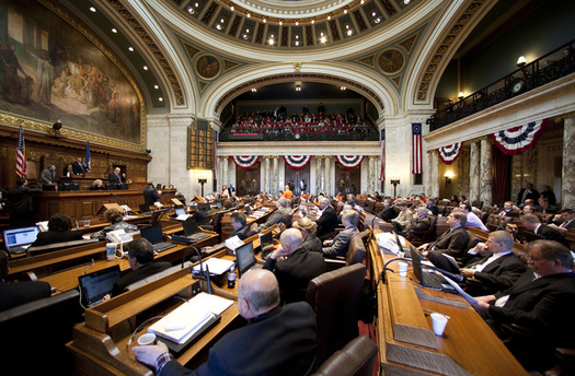 PHOTO: A report from the non-partisan Wisconsin Budget Project says the state could avoid the deep budget cuts proposed by the Walker administration by doing away with tax breaks the state can no longer afford, and by accepting federal assistance to expand the state's BadgerCare program. Photo credit: WI Legislature