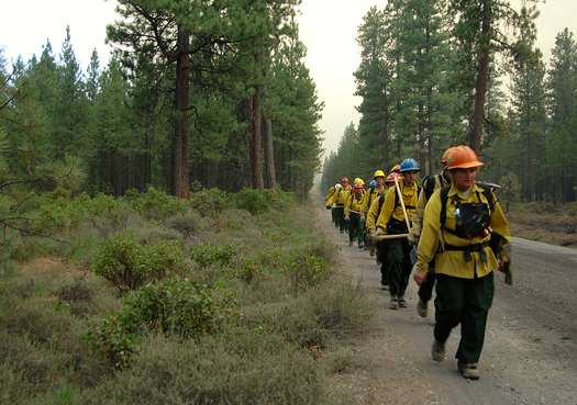 PHOTO: Memorial Day weekend is the start of high-alert season for wildland firefighters, who expect to put in some long hours in Oregon's tinder-dry backcountry this year. Photo credit: Tom Iraci/U.S. Forest Service.