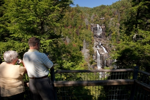 PHOTO: Summer vacation adventures on public lands could change dramatically if the push to turn federal lands over to state control succeeds, and there have been moves to do that in both the U.S. House and Senate. National forests in North Carolina are among the most-visited in the country. Photo of visitors at Nantahala National Forest courtesy of the U.S. Forest Service.