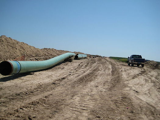 "The waiting game on a decision for Keystone XL is now at more than six years. Photo credit: ""Pipes for Keystone Pipeline in 2009"" by shannonpatrick17 from Swanton, Neb., Wikimedia Commons."