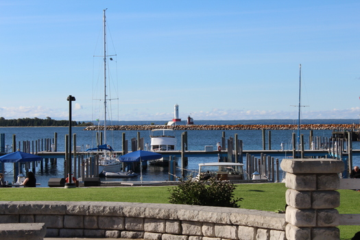PHOTO: The sensitive waters surrounding Mackinac Island are the subject of a new report, which examines the safety of the oil pipelines owned by Canadian company Enbridge Energy that run under the straits. Photo credit: M. Shand