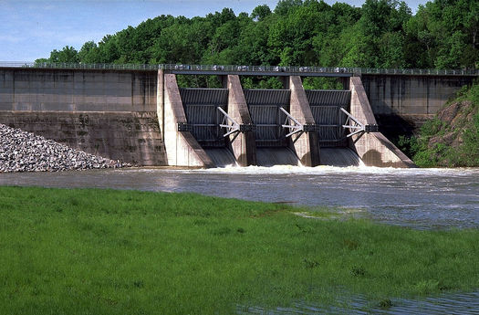 PHOTO: The EPA says its final Clean Power Plant is coming in August, which could affect energy generation at TVA facilities like the Tellico Dam. Photo credit: Tennessee Valley Authority, Wikimedia Commons.