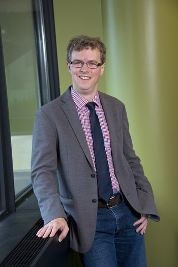 PHOTO: At IU-Bloomington, Assistant Professor Adam Ward, School of Public and Environmental Affairs, says new research on growth hormones used in beef production may demonstrate gaps in regulating hazardous substances. Photo courtesy of IU Bloomington.