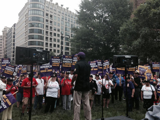 The Justice for Janitors movement marks a new front for labor, as contract talks begin that cover about 75,000 commercial cleaners in the eastern U.S. Photo courtesy 32BJ SEIU.