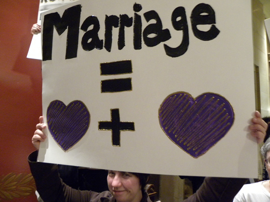 PHOTO: Marriage equality supporters in Ohio are awaiting a U.S. Supreme Court decision they believe will strike down Ohio's ban on same-sex marriage. Photo credit: Fibonaci Blue/Flickr.