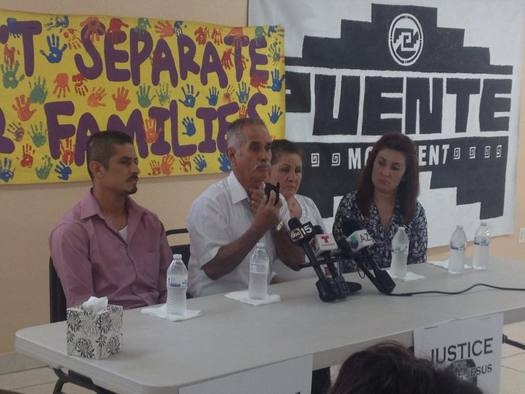 "PHOTO: The father of Jose de Jesus Deniz Sahagun wants to see the security tapes showing his son's alleged suicide at the Eloy Detention Center, saying, ""They say my son swallowed a sock and a toothbrush. How is that possible?"" Photo courtesy of Puente Human Rights Movement."