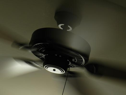 PHOTO: Ceiling fans are a good option for staying cool in the summer, but experts says it's a waste of energy to use them when you are not in the room. Photo credit: Pippa Lou/Morgufile.