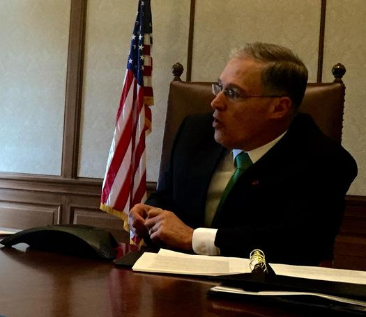 Gov. Jay Inslee has been putting in some long days and evenings, along with members of the Washington Legislature, and they're still not quite done with education-related issues and how to fund them. Courtesy: AARP Washington.