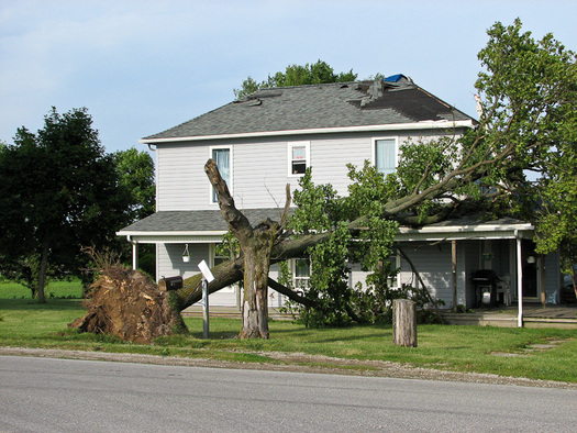 PHOTO: Storms that have plowed through the Buckeye State this week have left some people with property damage. Insurance experts say it's an important reminder for homeowners to review their coverage. Photo courtesy of National Severe Storms Laboratory.