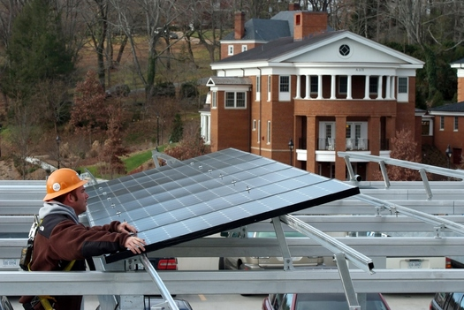PHOTO: Clean energy advocates say the Obama administration's crackdown on carbon pollution will lead to more solar projects across Virginia, like the one pictured here in Lexington. Photo courtesy Secure Futures.