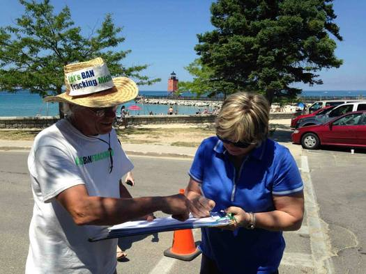Supporters of a measure to ban fracking have until Nov. 11 to obtain the signatures required to put the issue on the November 2016 ballot. Photo courtesy of Committee to Ban Fracking in Michigan.