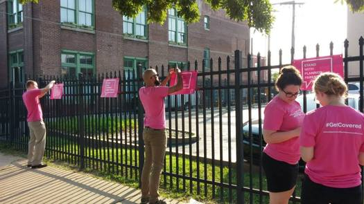 Planned Parenthood supporters and volunteers have been working overtime to ensure the St. Louis office remains a welcoming place. Credit: Ann Wade
