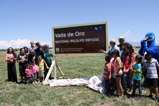 Nature lovers gather at Valle de Oro National Wildlife Refuge. Courtesy: U.S. Sen. Martin Heinrich