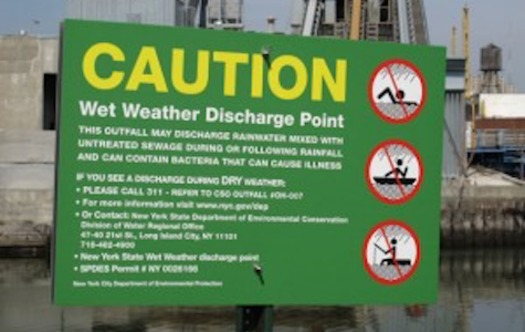 PHOTO: Every year billions of gallons of raw sewage overflow into New York lakes and rivers, and a new DEC proposal may not require all overflow incidents to be reported. Photo courtesy New York City Dept. of Environmental Protection.