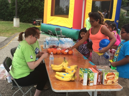 Healthy snacks, blood pressure screenings and school supplies are all part of a celebration of National Community Health Center Week at Cherry Health in Grand Rapids. Photo courtesy of Gerrard Jolly.