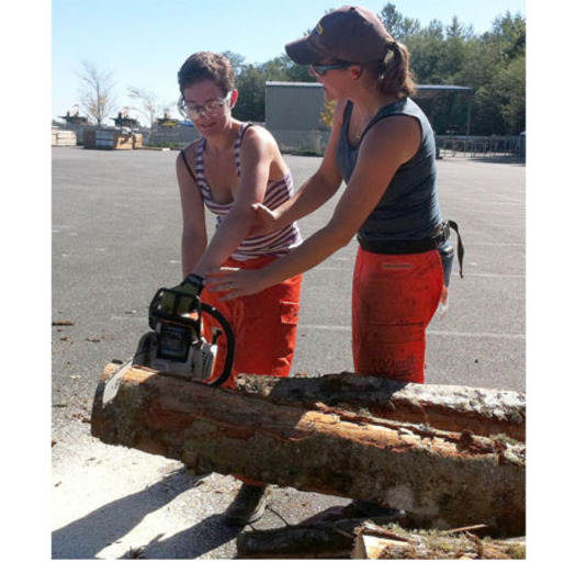 A women-only chainsaw class is being offered next month in Cody. Courtesy: University of Wyoming Extension.
