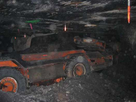 Heavy equipment in a coal mine. Courtesy: U.S. Department of the Interior