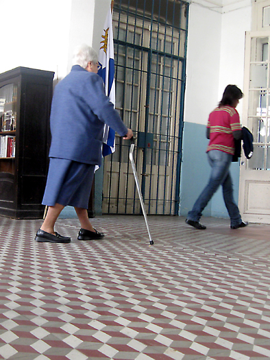 Using a cane or walker isn't second-nature to many older people, who can benefit from some training to use them correctly to prevent falls. Credit: ALivmann/morguefile.com