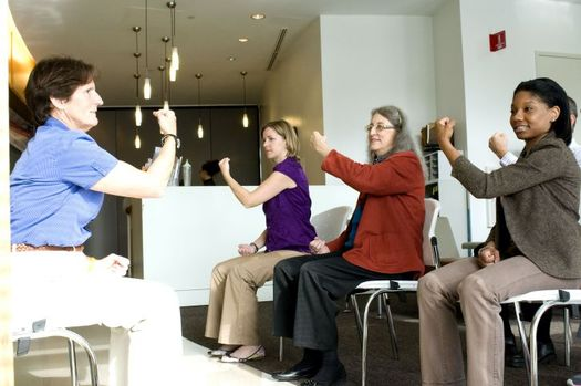 Tai chi is recommended as an ideal exercise for seniors to help prevent falls. Credit: Amanda Mills, USCDCP, Public Domain Images